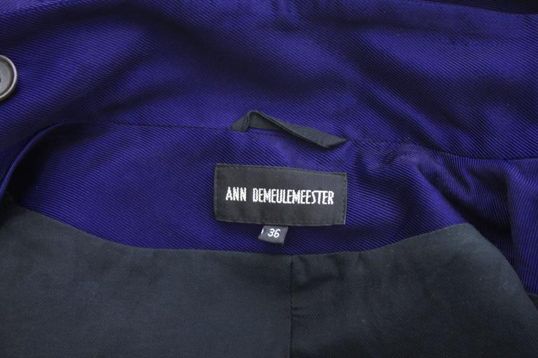Ann Demeulemeester Asymmetrical Navy Moto Jacket with Zip Collar 9