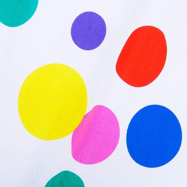 Arnold Scaasi 80s Rainbow Polka Dot Gown 5