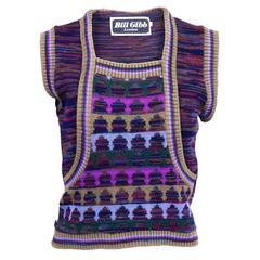 Rare 1970s Knitwear Bill Gibb Vest