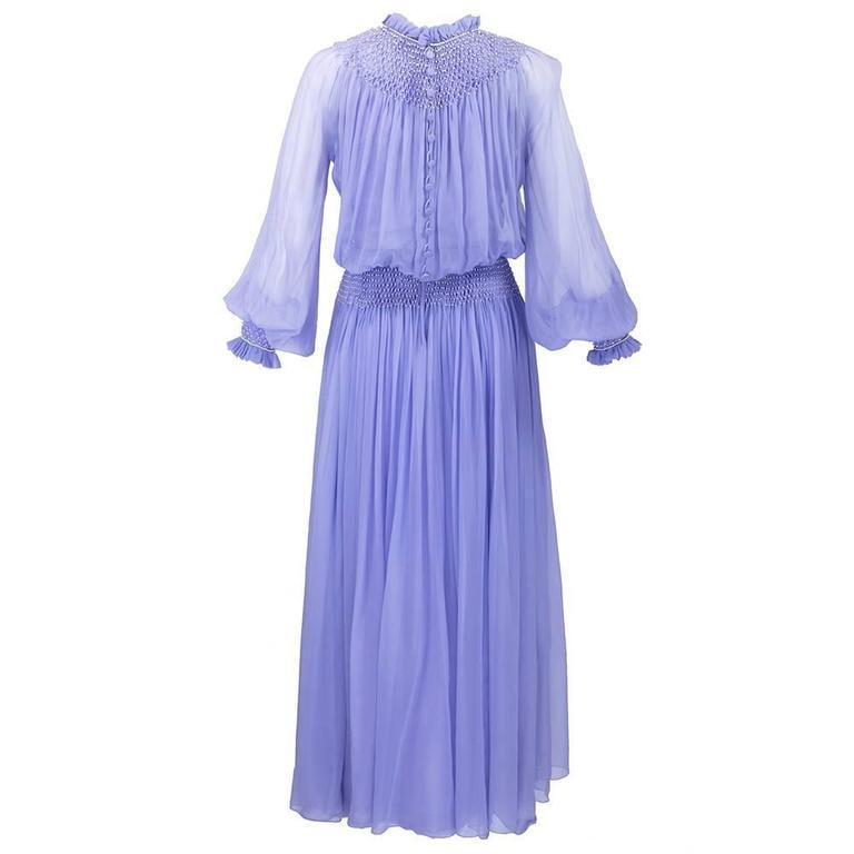 1970s Nina Ricci Lavender Chiffon Gown 2