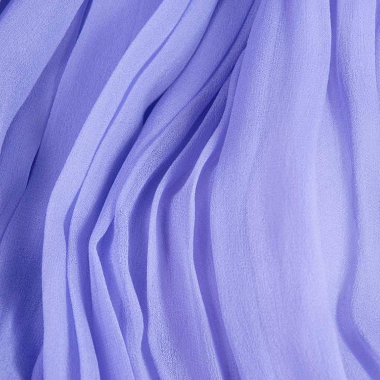 1970s Nina Ricci Lavender Chiffon Gown 5