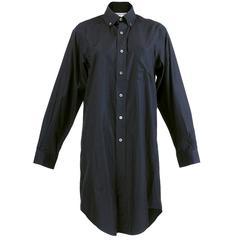 2001 Comme Des Garcons Oversized Black Button Down Shirt