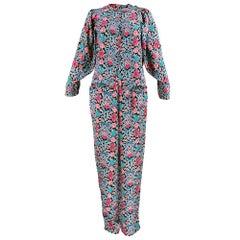 70s Liberty of London Silk Pajama Style Ensemble