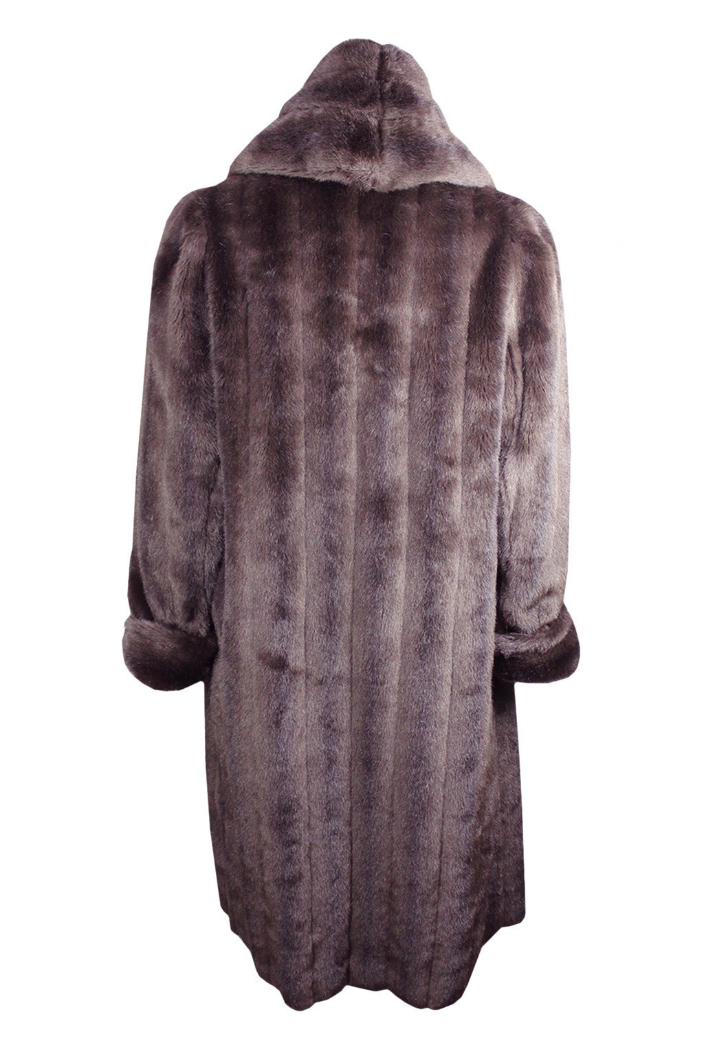 jean paul gaultier men 39 s faux fur robe coat at 1stdibs. Black Bedroom Furniture Sets. Home Design Ideas