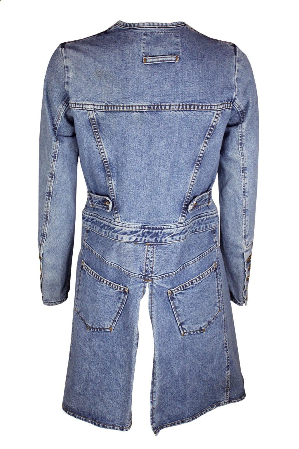 Jean Paul Gaultier Jeans Deconstructed Denim Jacket At 1stdibs