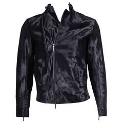Calvin Klein Men's Pony Hair Motocross Jacket