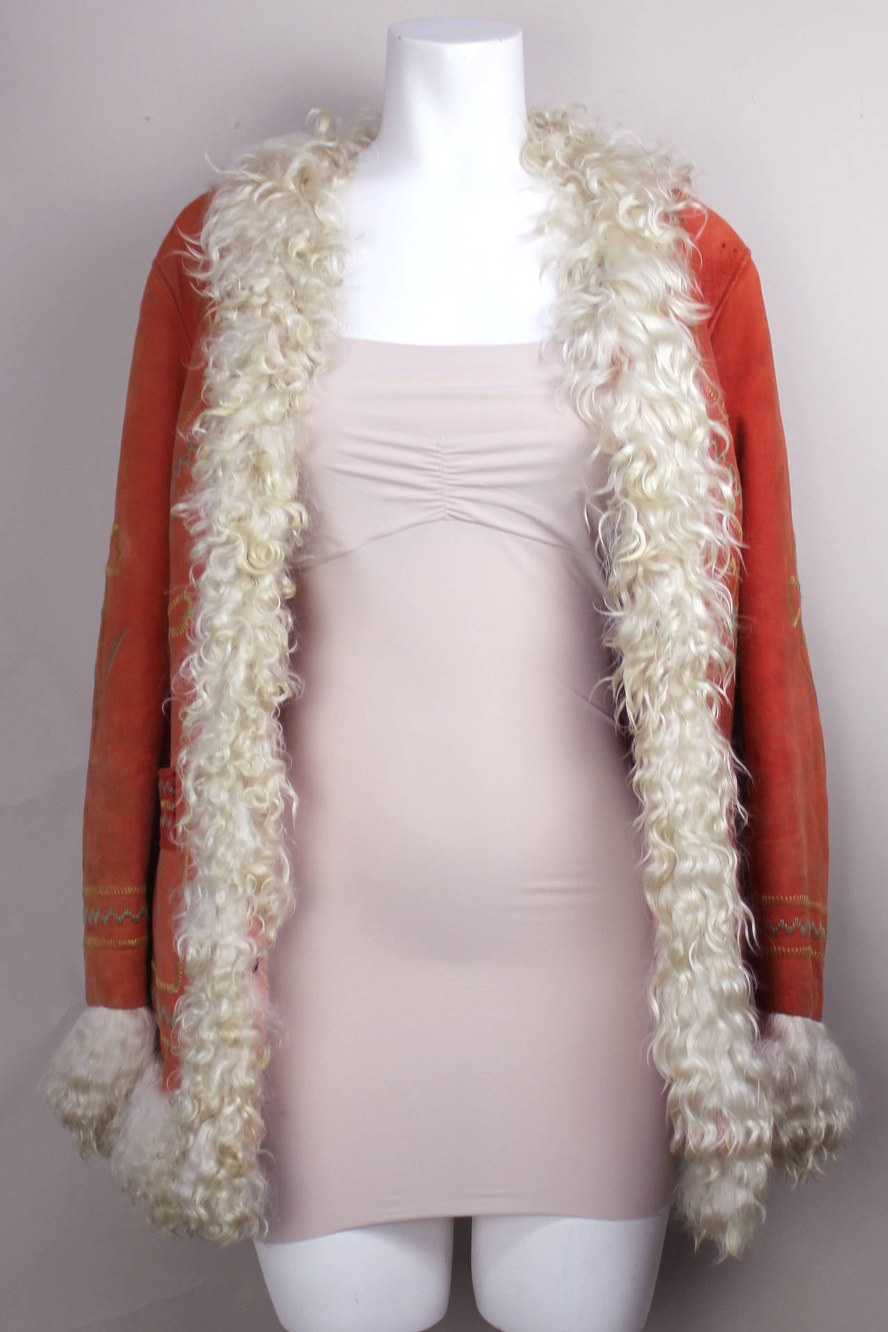 """1970's Original Style Afghan """"Almost Famous"""" Sheepskin Coat 3"""