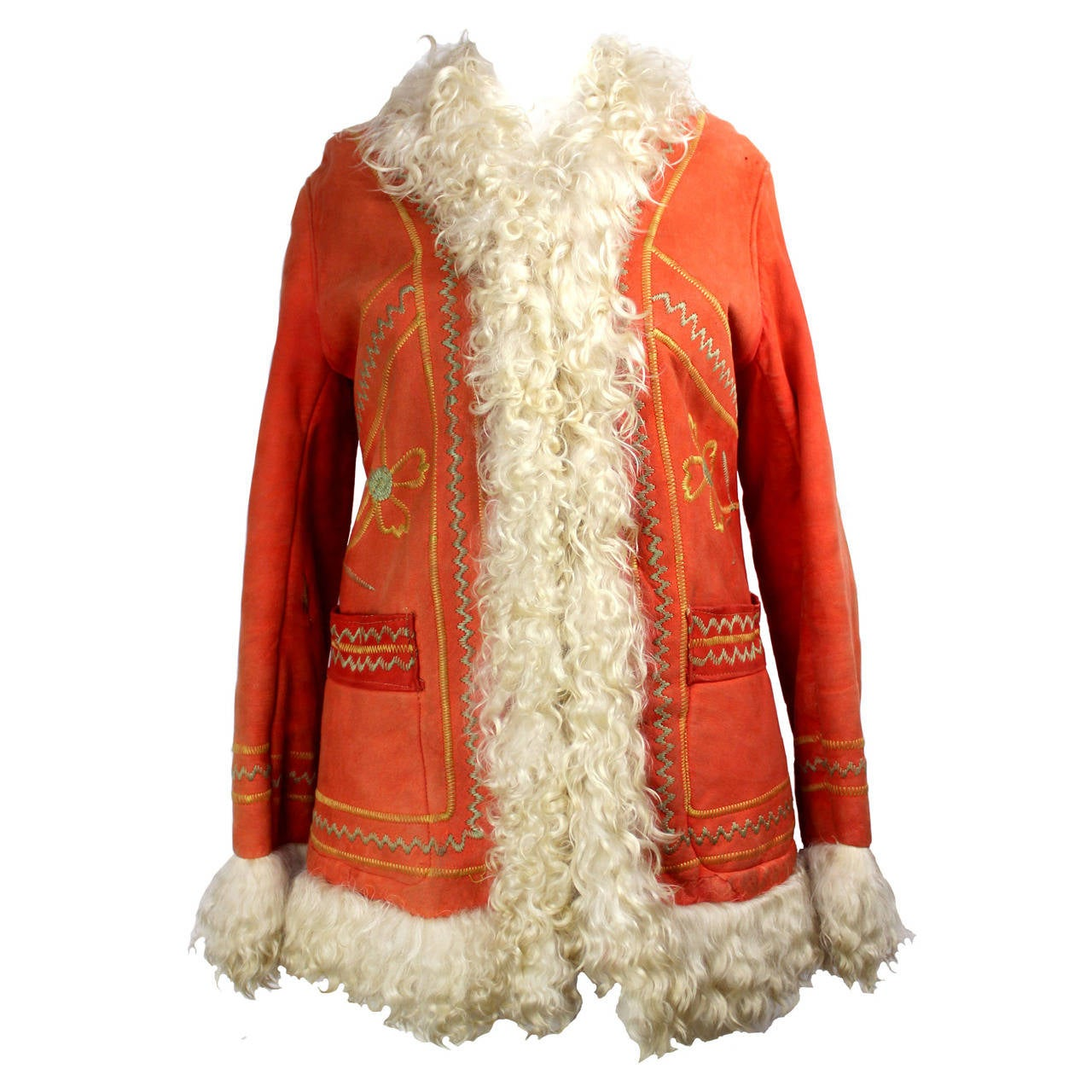 """1970's Original Style Afghan """"Almost Famous"""" Sheepskin Coat 1"""