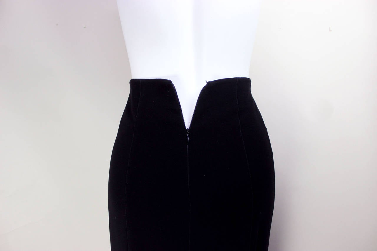 1980s Thierry Mugler Sexy Long Pencil Skirt In Excellent Condition For Sale In New York, NY