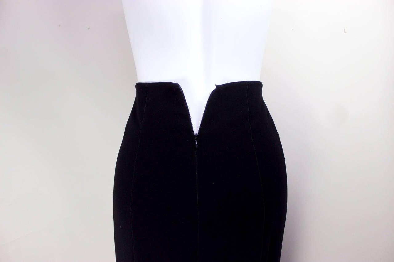 1980s Thierry Mugler Sexy Long Pencil Skirt 4