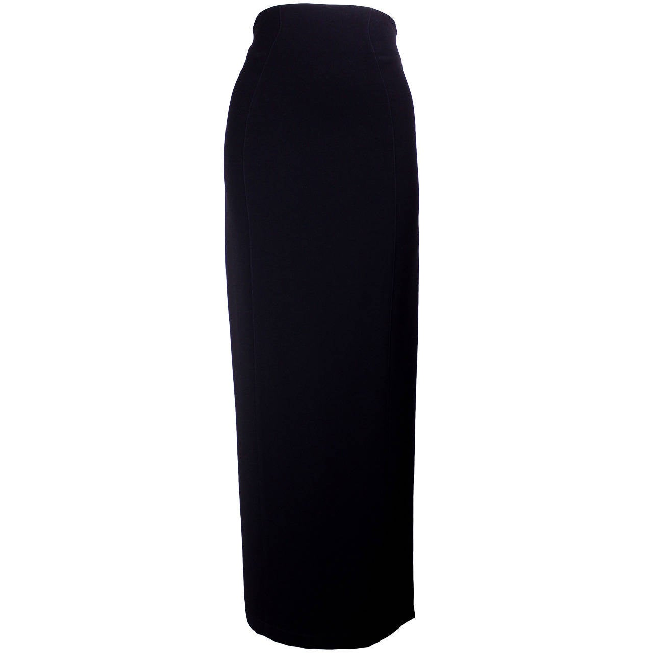 1980s Thierry Mugler Sexy Long Pencil Skirt For Sale
