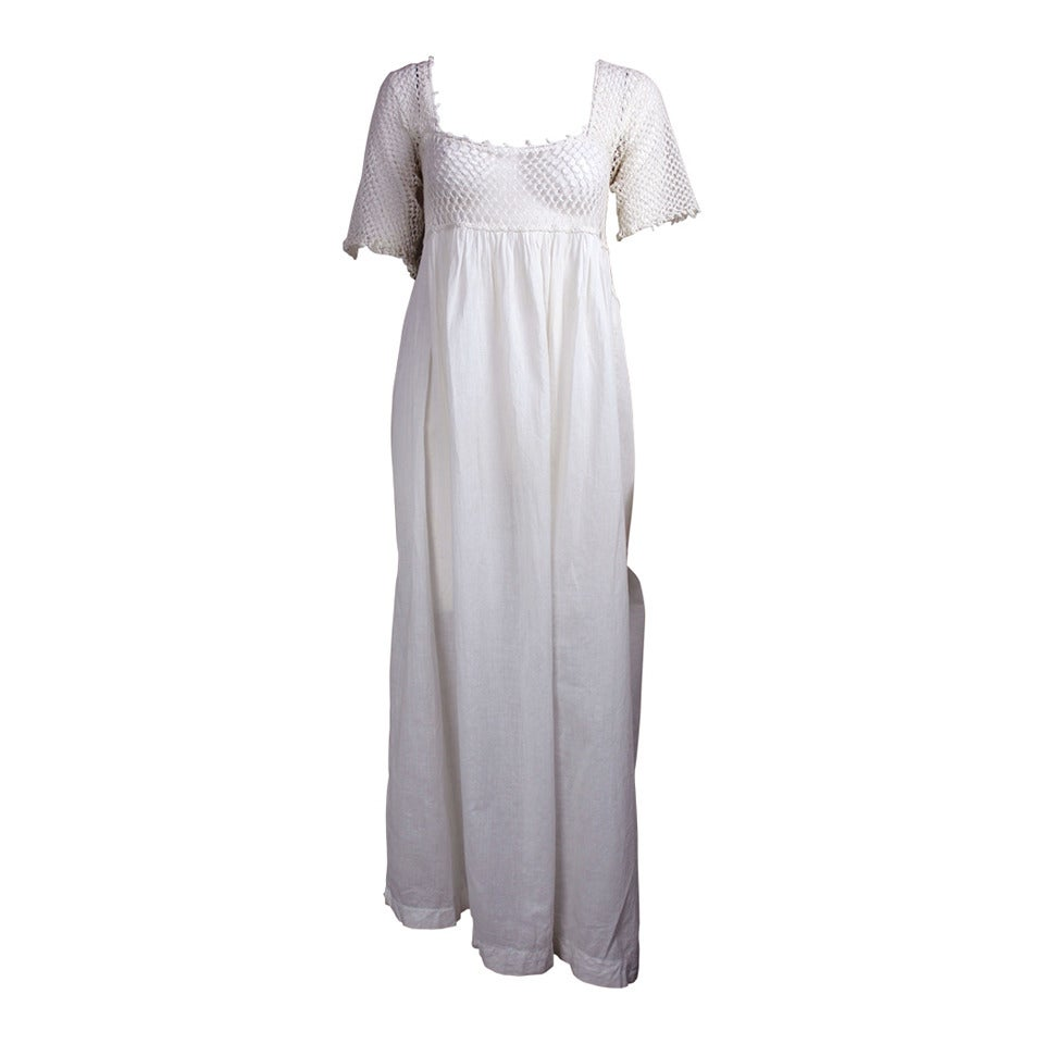Romantic Edwardian Nightgown For Sale