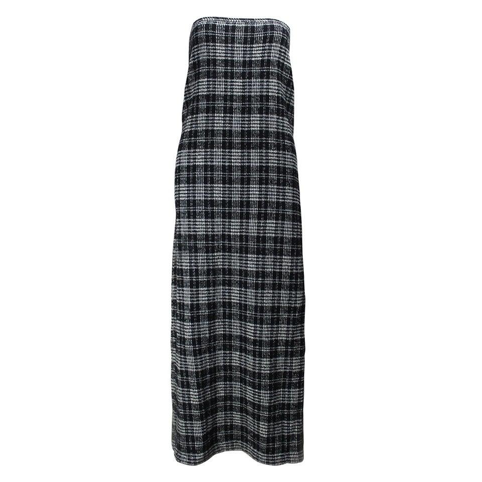 Comme des Garcons Plaid Maxi Tube Dress 1