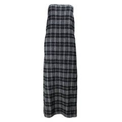 Comme des Garcons Plaid Maxi Tube Dress