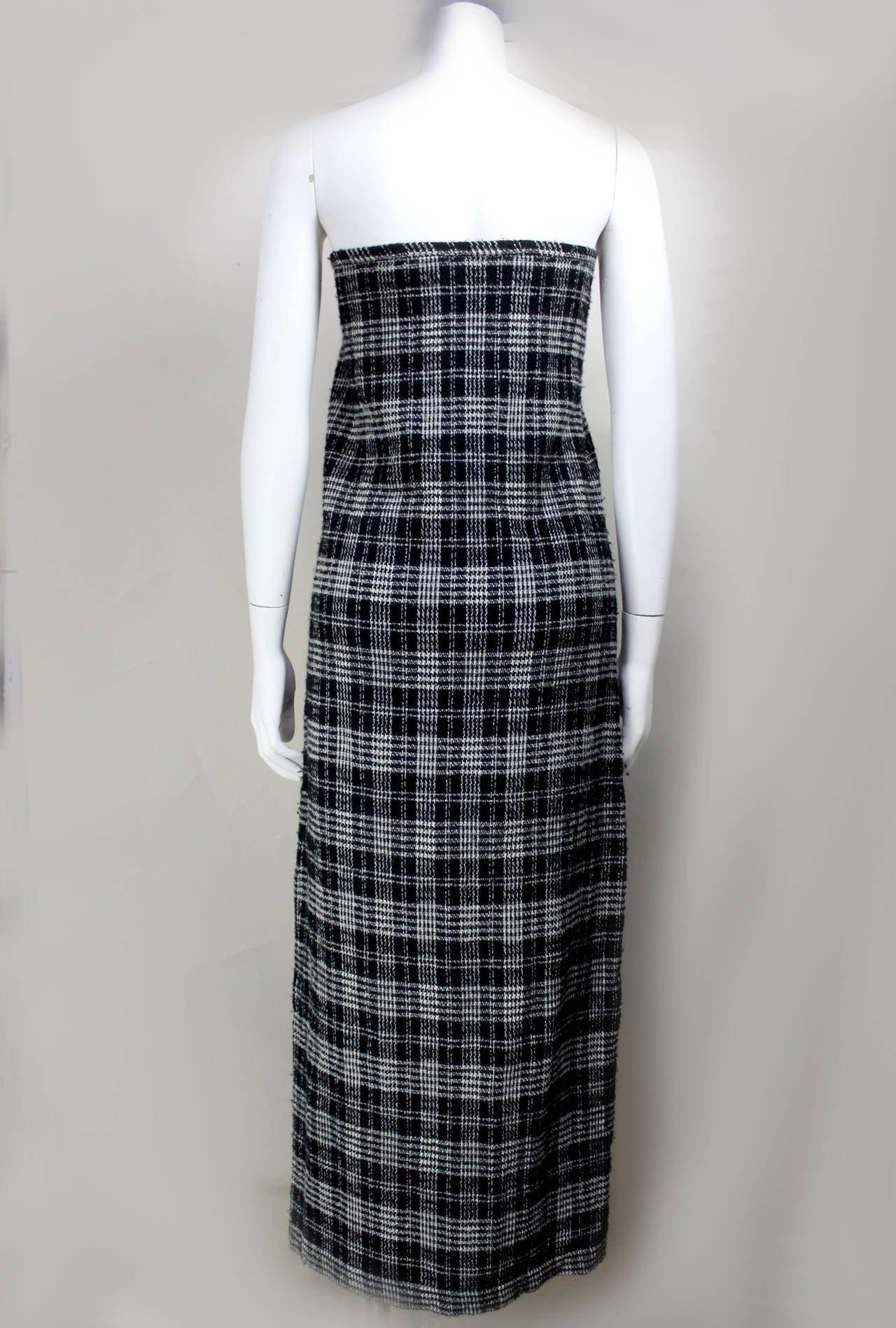 Comme des Garcons Plaid Maxi Tube Dress 3