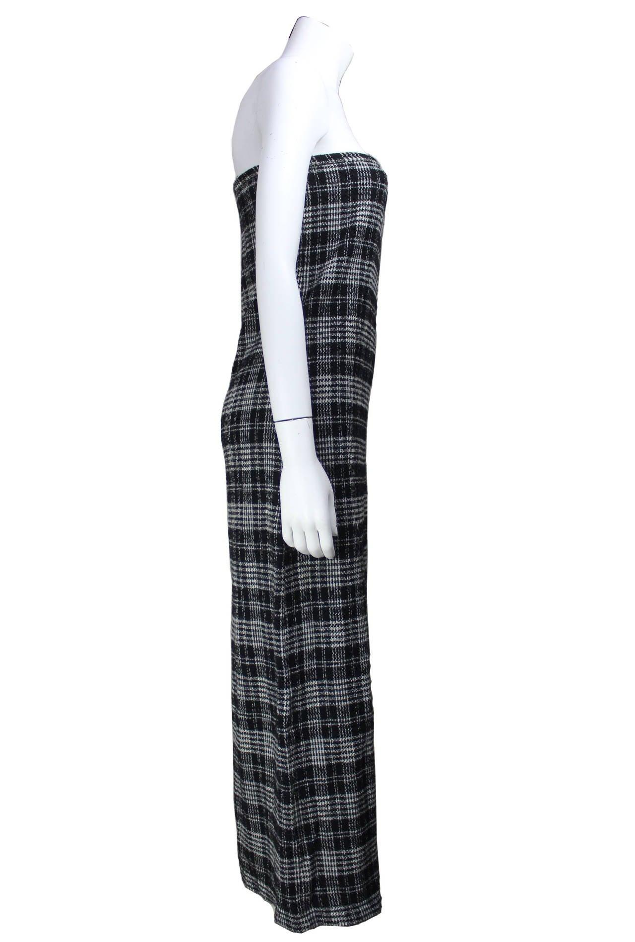 Comme des Garcons Plaid Maxi Tube Dress 2