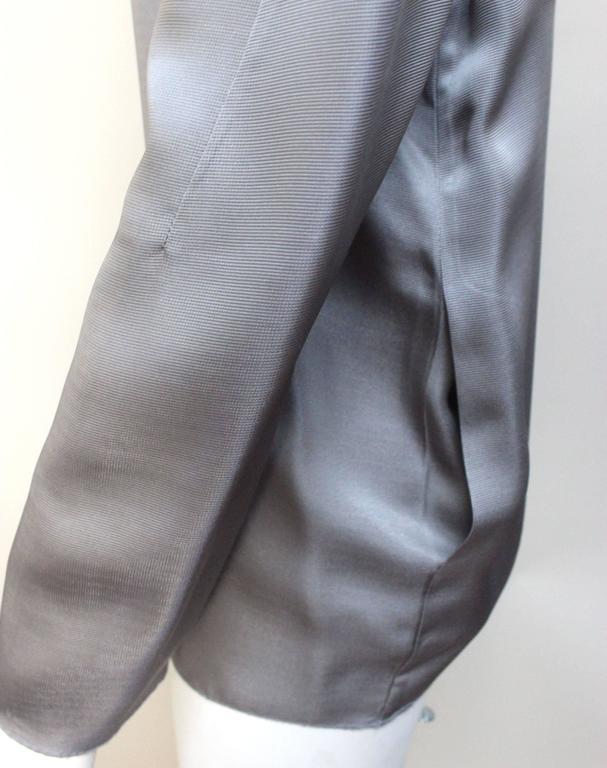 Marni Gunmetal Grey Silky Viscose Top For Sale 3