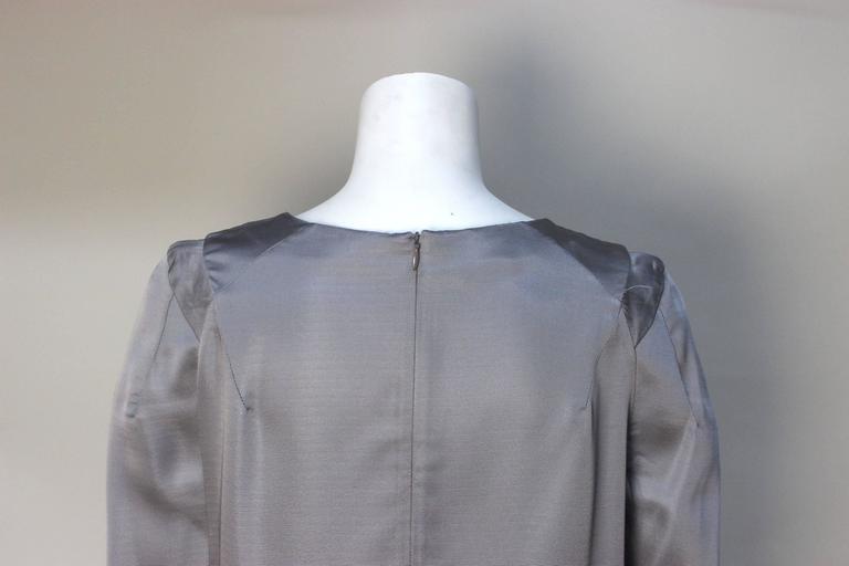 Marni Gunmetal Grey Silky Viscose Top For Sale 1