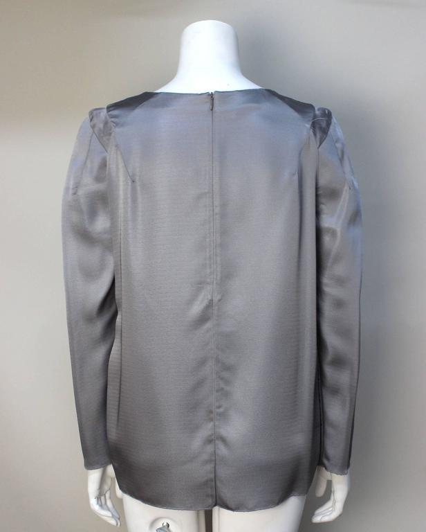 Gray Marni Gunmetal Grey Silky Viscose Top For Sale