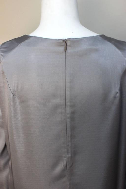 Marni Gunmetal Grey Silky Viscose Top For Sale 2