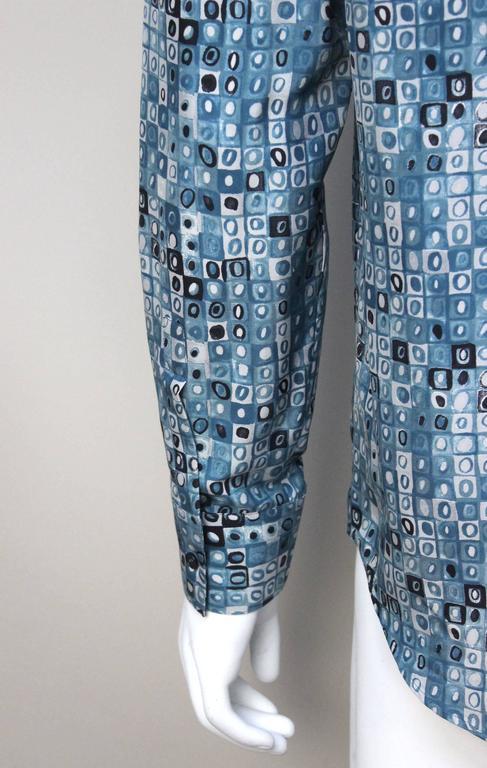Mens Gianni Versace Couture Silk Portrait Shirt For Sale 2