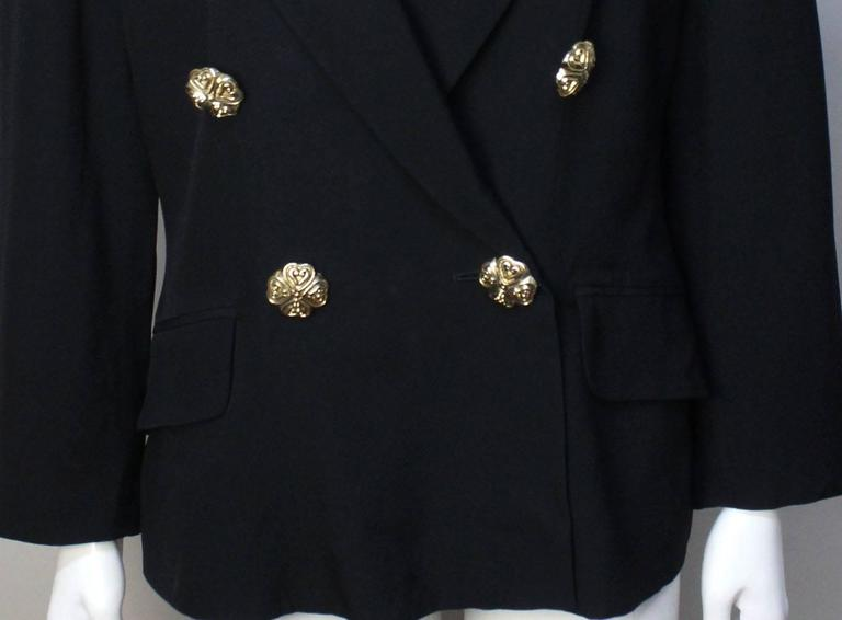 Moschino Black Blazer 1991 Spring Collection For Sale 1