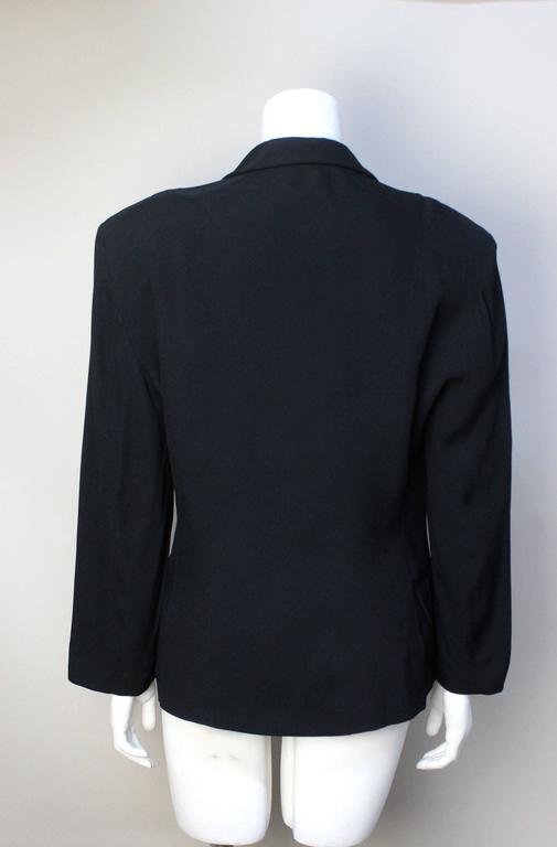 Moschino Black Blazer 1991 Spring Collection In Excellent Condition For Sale In New York, NY