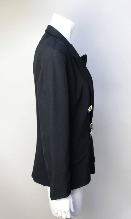 Women's Moschino Black Blazer 1991 Spring Collection For Sale