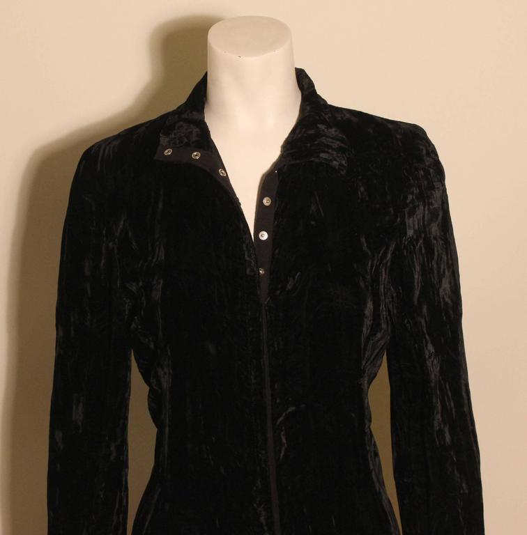 1980s Betsey Johnson Punk Label Long Velvet Dress 5