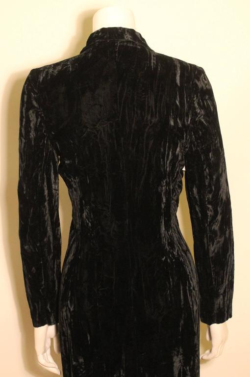 1980s Betsey Johnson Punk Label Long Velvet Dress 6