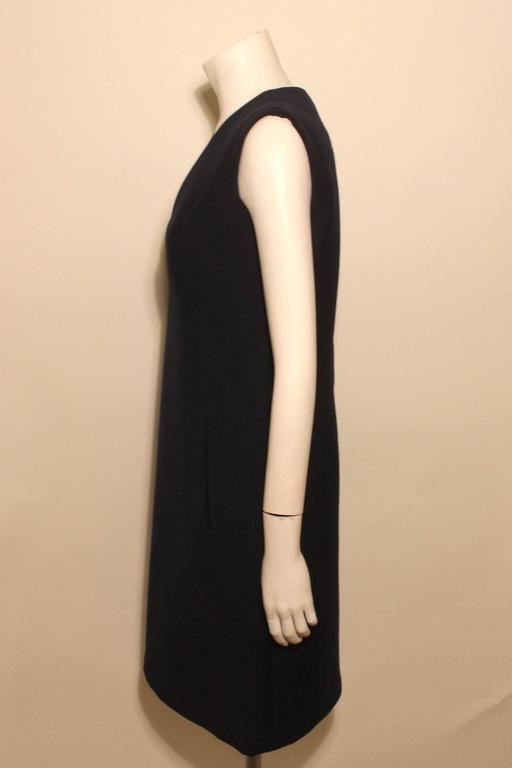 Black Vintage Pauline Trigere Sheath Dress For Sale