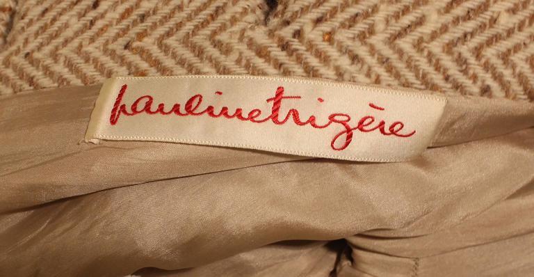 Vintage Pauline Trigere Wool Tweed Dress 6