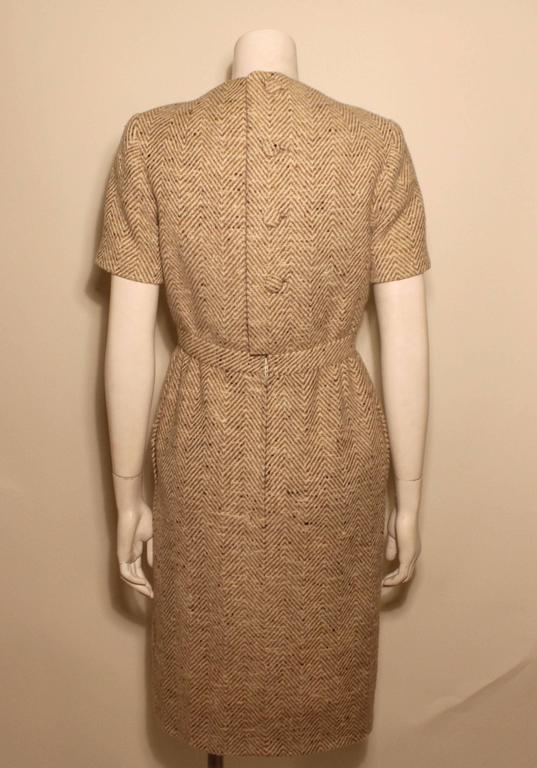 Vintage Pauline Trigere Wool Tweed Dress 3