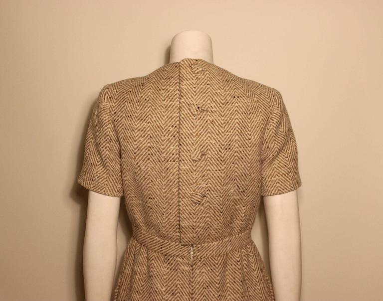 Vintage Pauline Trigere Wool Tweed Dress 5