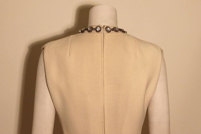 Vintage Pauline Trigere Jeweled Front Cocktail Dress For Sale 2