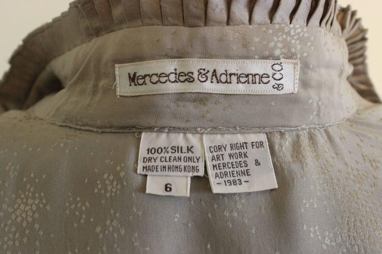 Vintage Mercedes & Adrienne Pleated Silk Blouse 7