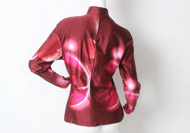 1980s Thierry Mugler Outer Space Futuristic Mock Neck Top 5
