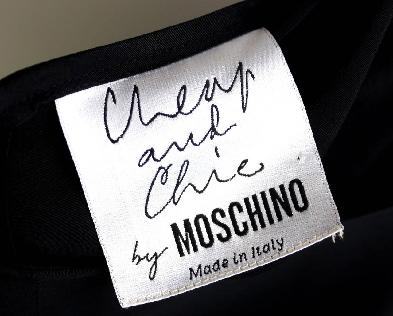 Moschino Cheap and Chic Tank with Corded Logo at 1stdibs