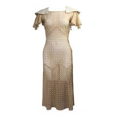 1920s Cotton Lace Day Dress