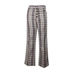 Levi's Early 1970s Big E Graphic Print Bell Bottoms