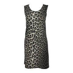 Ozbek Leopard Print Sheath Dress