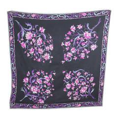Vintage Floral Pucci Silk Scarf