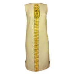 1960s MOD Dress with Trompe L'Oeil Zipper