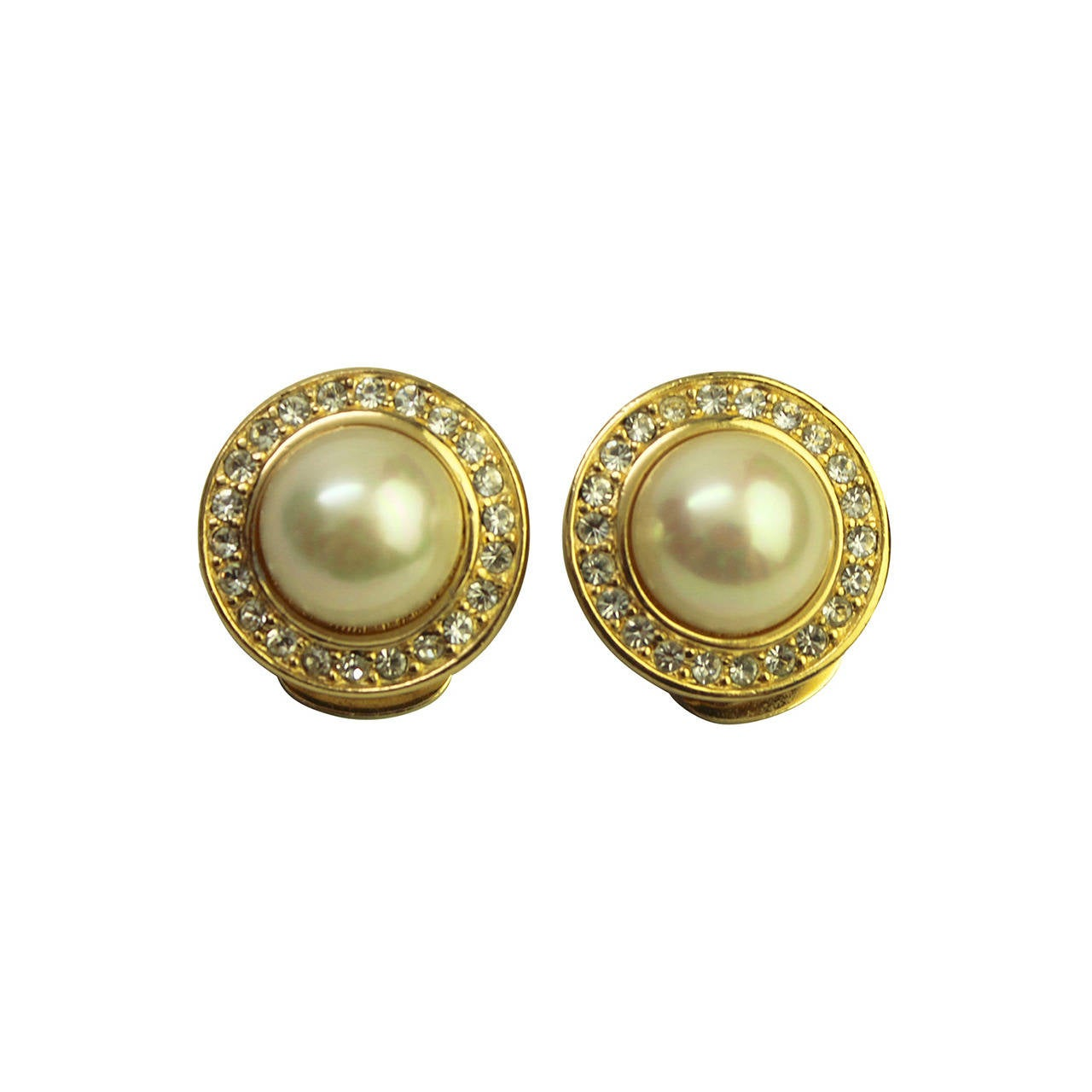 earrings for christian faux pearl and rhinestone earrings for sale 574