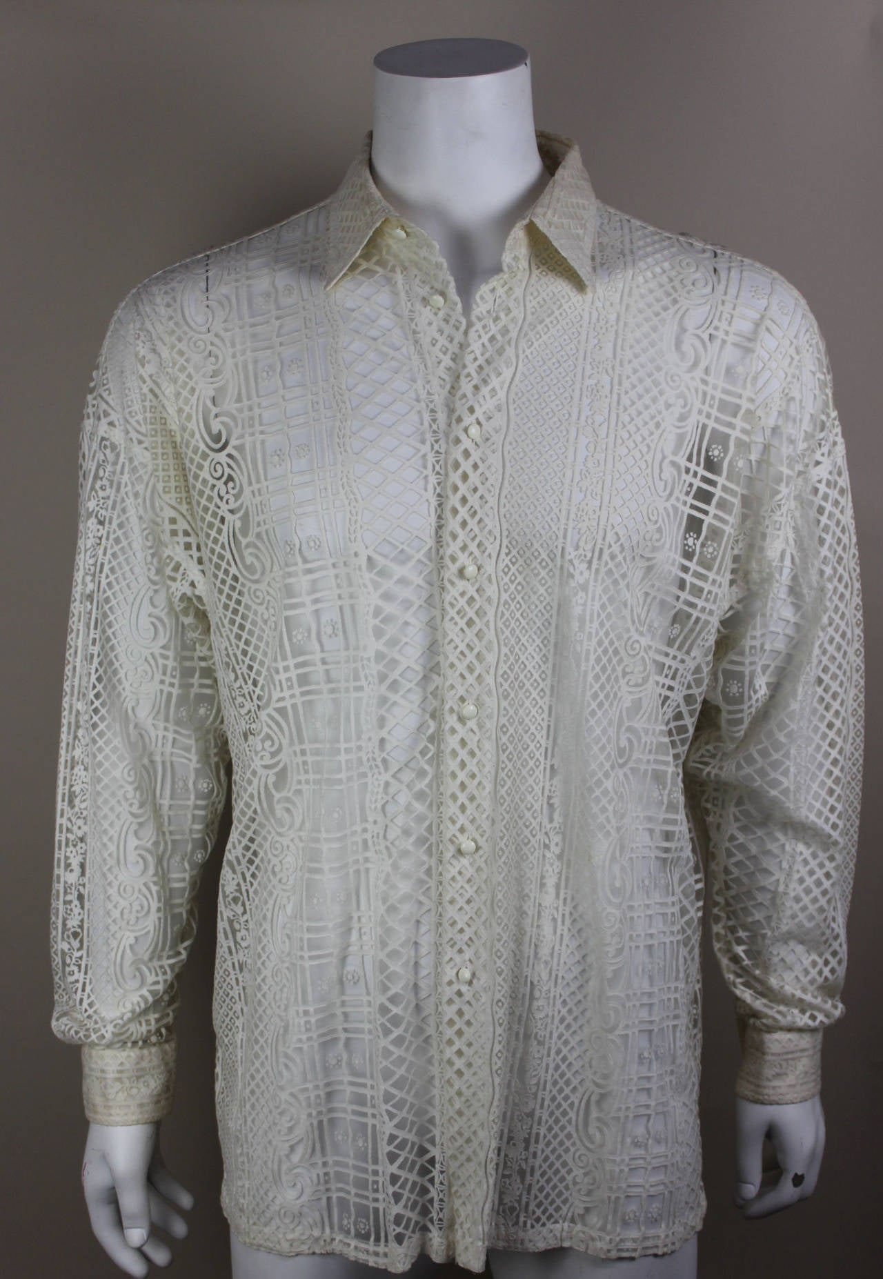 Mens Shirts With Printed Cuffs