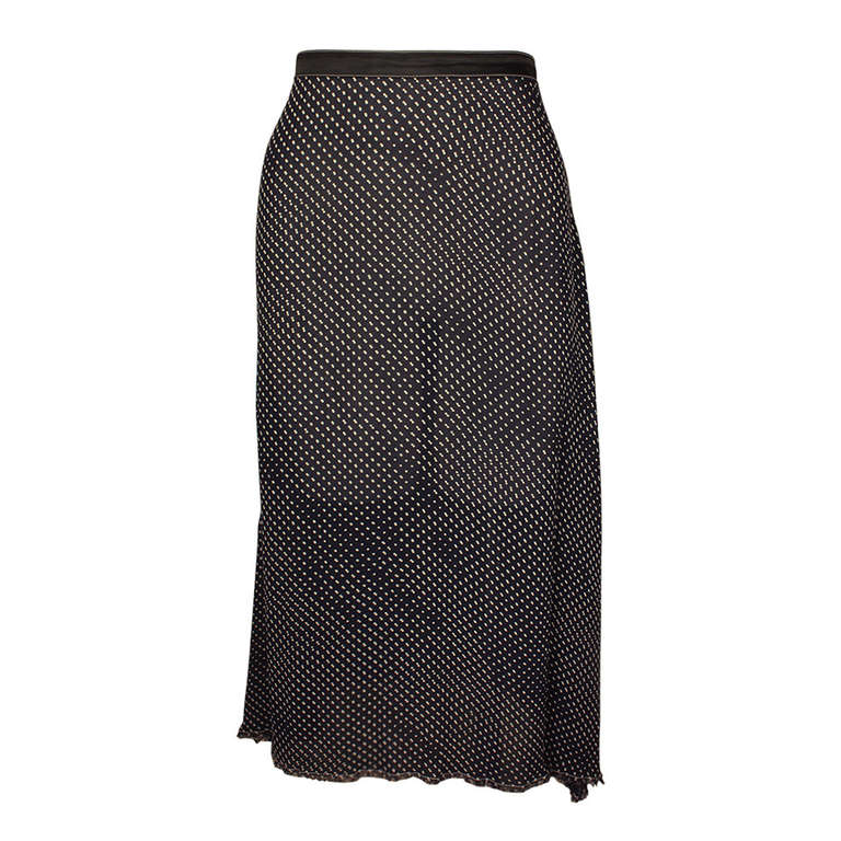 Martin Margiela Early 90s Sheer Frayed Skirt
