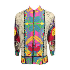Timney Fowler for Go Silk 1990's Men's Baroque Printed Shirt