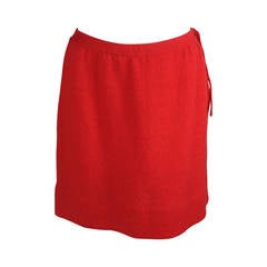 1970s Dorothee Bis Knit Red Skirt