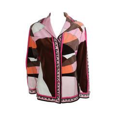 1960s Pucci Geometric Print Velvet Jacket