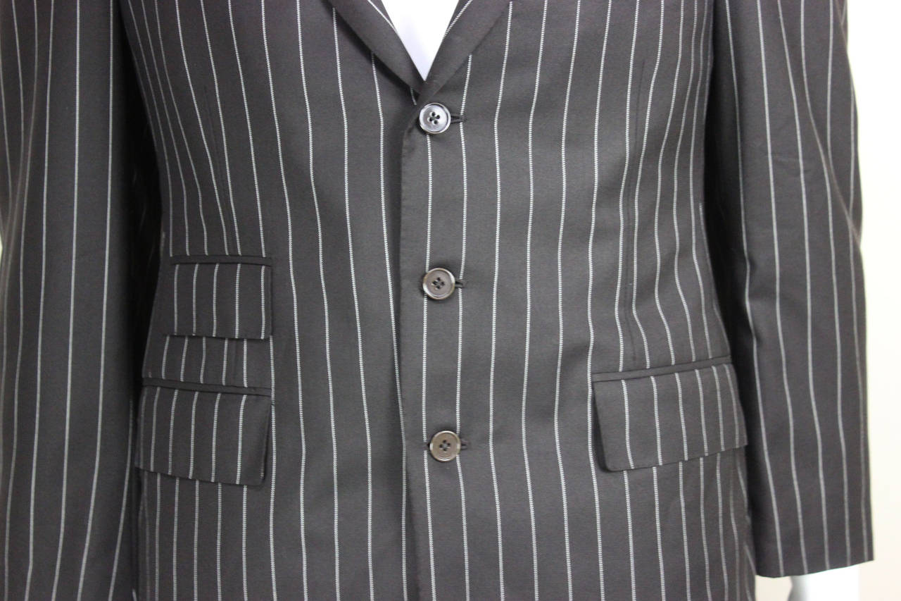 Ralph Lauren Mens Purple Label Pinstripe Suit At 1stdibs
